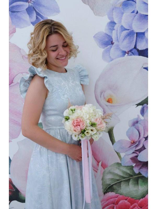 Свадебный букет невесты с гортензией 'Нежность' by Kiwi Flower Shop
