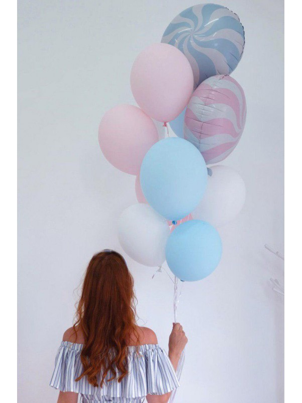 Набор шариков с гелием 'Леденцы' от Kiwi Flower Shop