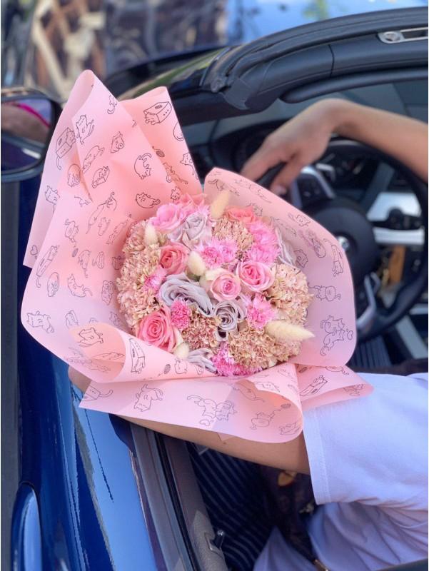 Неймовірно ніжний і милий букет 'KIWI' від Kiwi Flower Shop