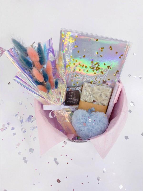 Подарочный набор 'Total holographic' от Kiwi Flower Shop
