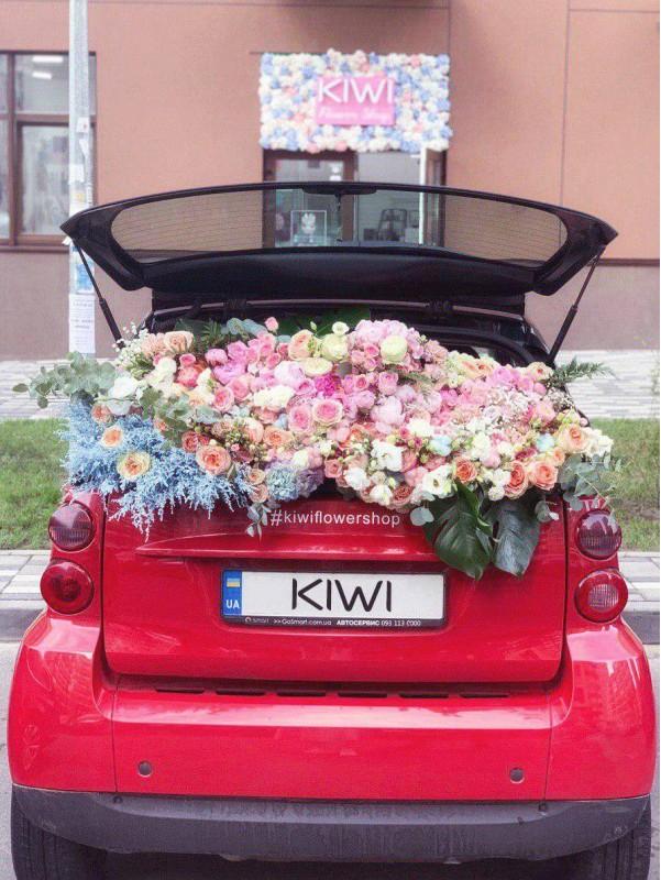 Цветочное изобилие | Эффект WOW! | Стильные букеты | Модные букеты | Авторские букеты от Kiwi Flower Shop