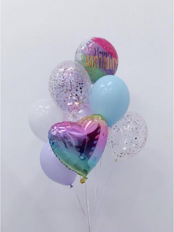 Набор шариков 'Happy Birthday M' от Kiwi Flower Shop