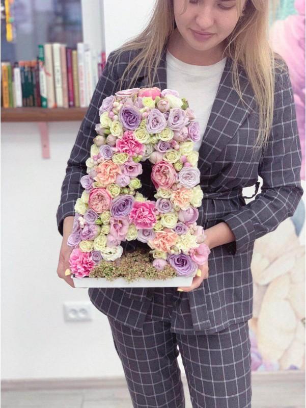 Якщо Ви шукаєте щось ексклюзивне та неповторне 'Буква з квітів' те що потрібно! від Kiwi Flower Shop