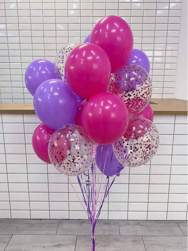 Большой набор ярких латексных шаров | Воздушные шары от Kiwi Flower Shop
