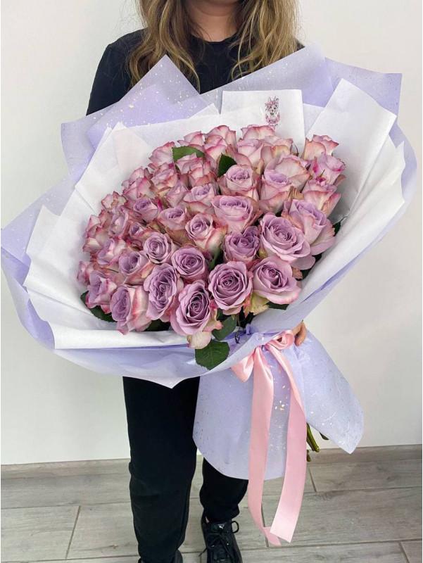 Букет з 45 троянд Меморі лейн  | Букети з троянд від Kiwi Flower Shop
