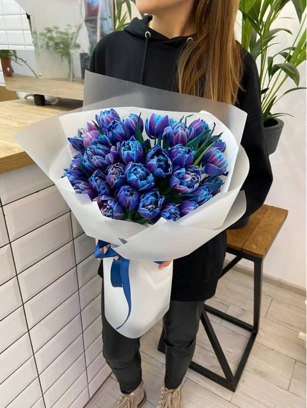 31 космический тюльпан | Букеты из тюльпанов от Kiwi Flower Shop