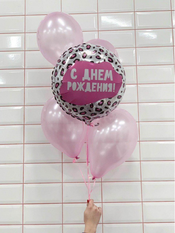 Ніжне поєднання кульок в рожевому кольорі 'Набір кульок Рожева мрія' від Kiwi Flower Shop