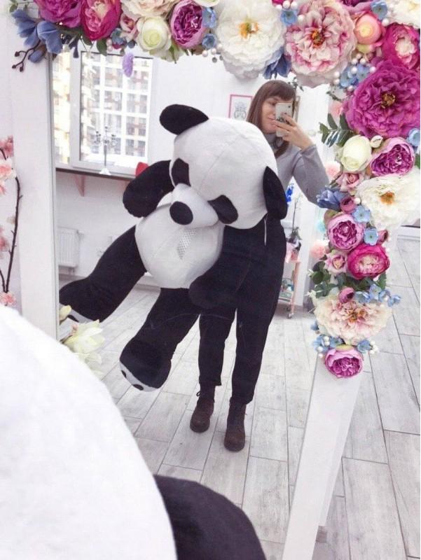 Плюшевый мишка 'Big Panda' от Kiwi Flower Shop