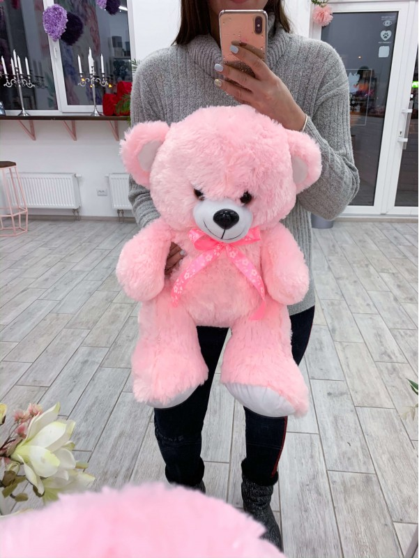Медвежонок среднего размера 'Pink bear' by Kiwi Flower Shop