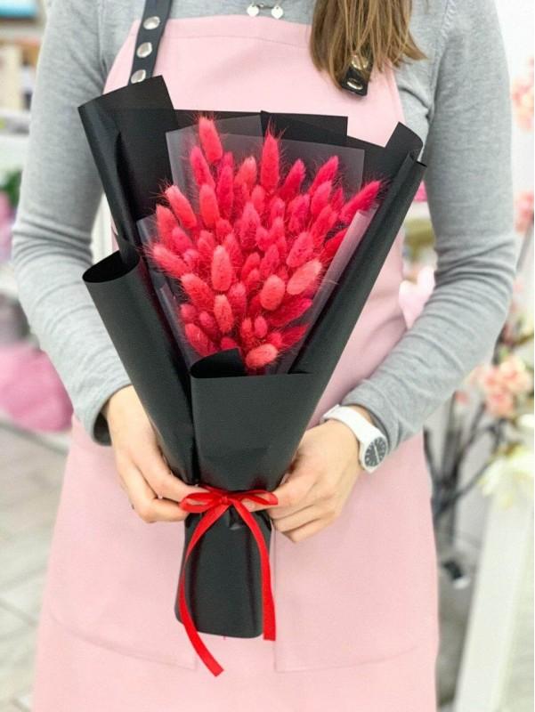 Монобукет із сухоцвітів 'Red passion' від Kiwi Flower Shop