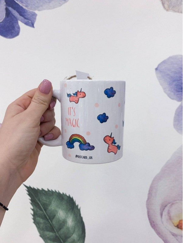Керамическая чашка 'Unicorn' by Kiwi Flower Shop