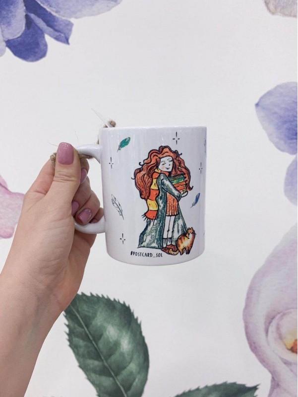 Керамическая чашка 'Hermione Granger' by Kiwi Flower Shop