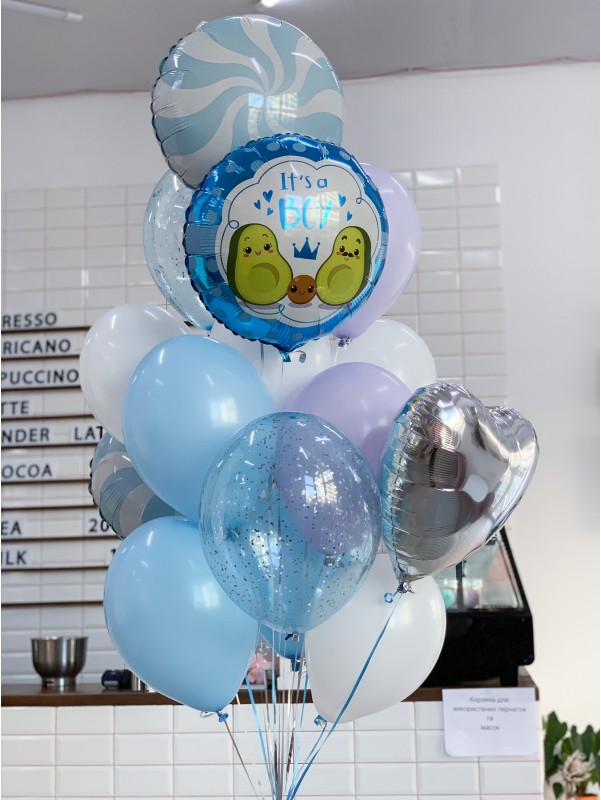 Набор шариков 'It's a boy'. от Kiwi Flower Shop