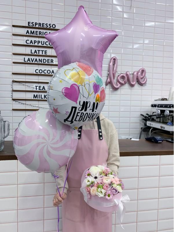 Набор шариков 'It's a girl'. от Kiwi Flower Shop