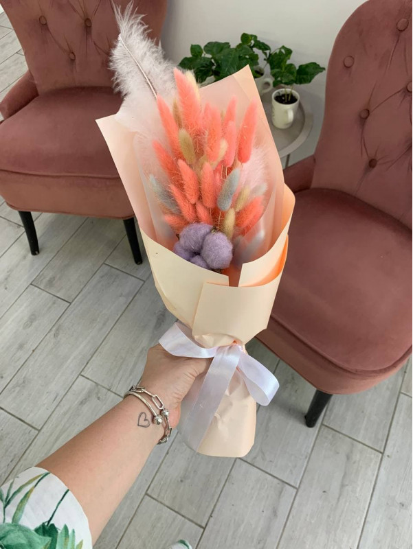 Букет-комплимент из сухоцветов | Сухоцветы от Kiwi Flower Shop
