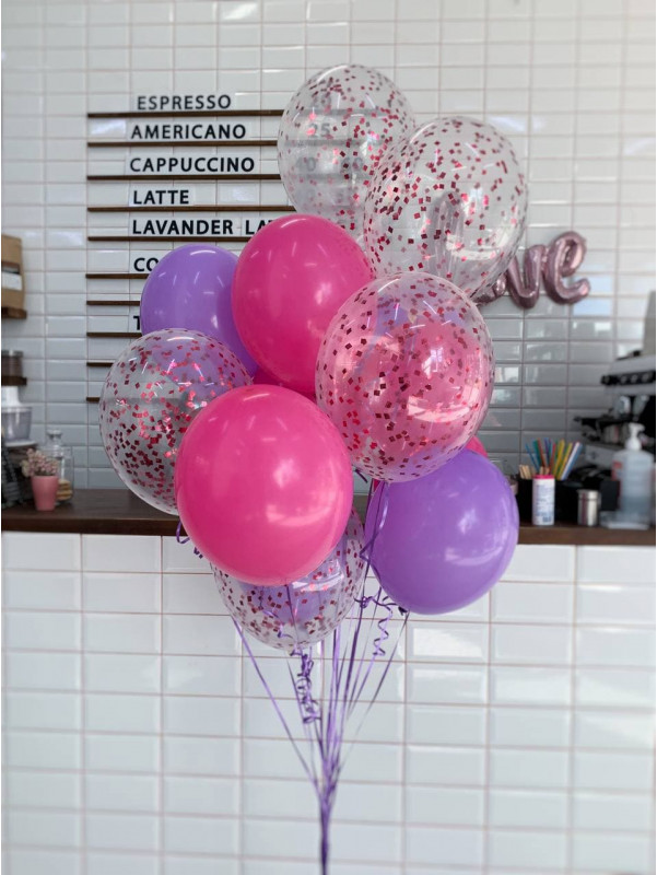 Bright set of latex balloons | Balloons by Kiwi Flower Shop