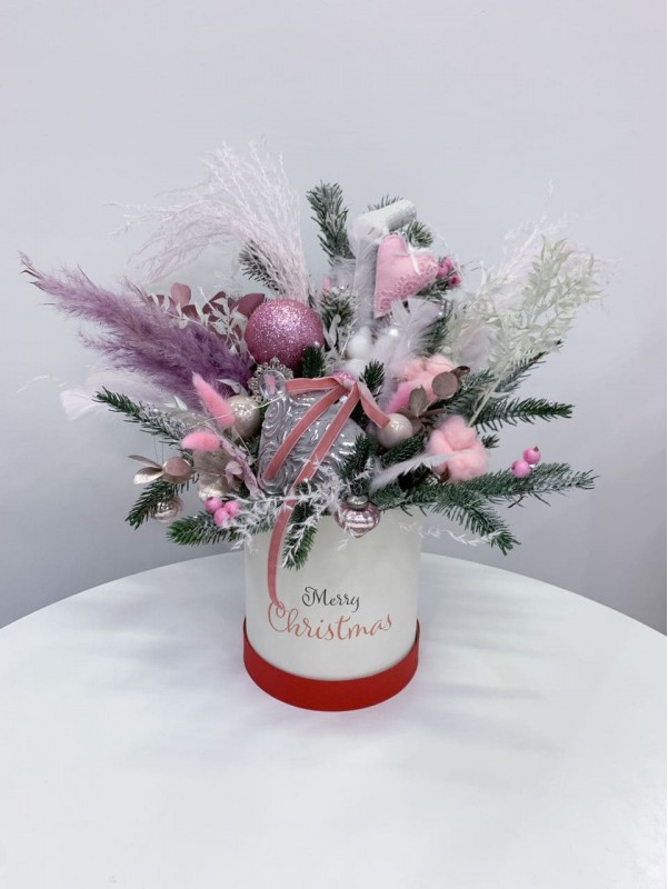 Pink Glamorous | New Year's arrangements by Kiwi Flower Shop