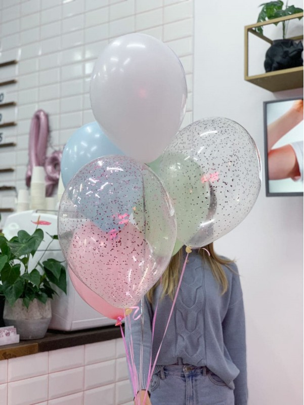 "Baloon's set ""Marshmallow"". | Balloons by Kiwi Flower Shop"