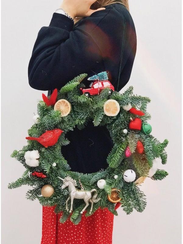 Різдвяний вінок з нобілісу 'Magic moments'. від Kiwi Flower Shop