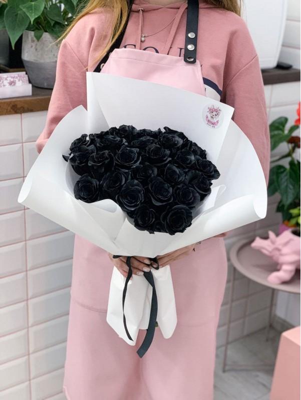 Моно букет з чоних троянд 'Black love'. від Kiwi Flower Shop
