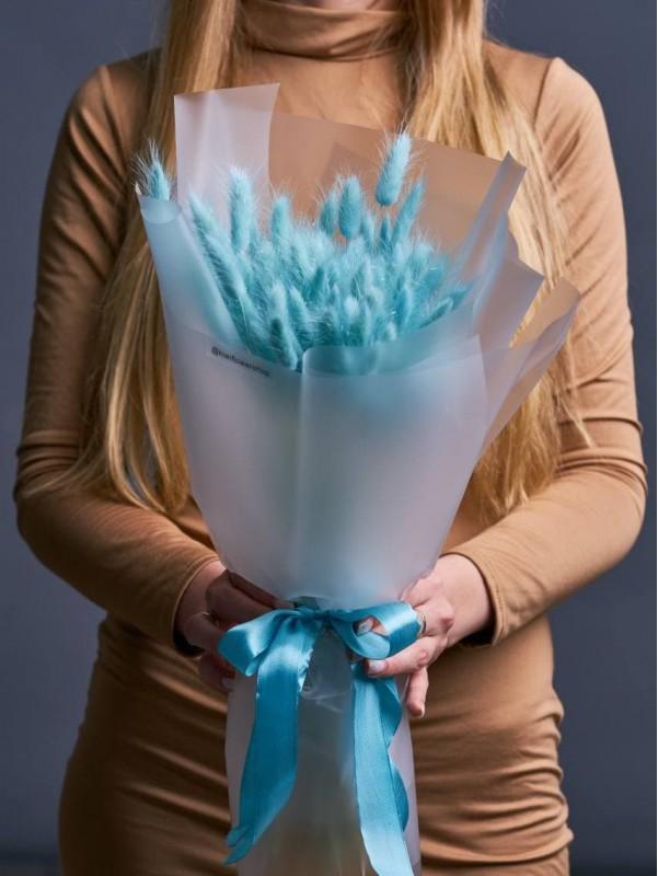 Монобукет із сухоцвітів 'Tiffany love' від Kiwi Flower Shop