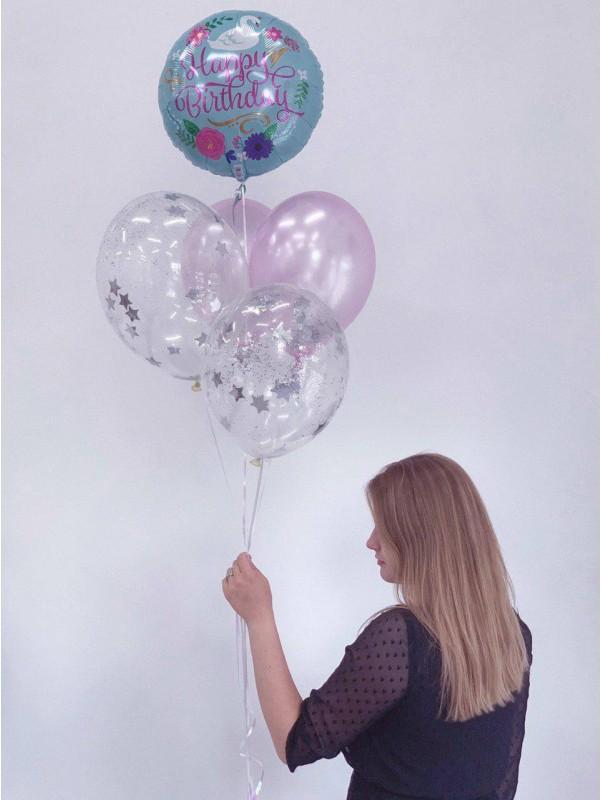 Набор шариков Happy Birthday S   Купить воздушные шары в Киеве   Воздушные шарики   Надувные шары от Kiwi Flower Shop