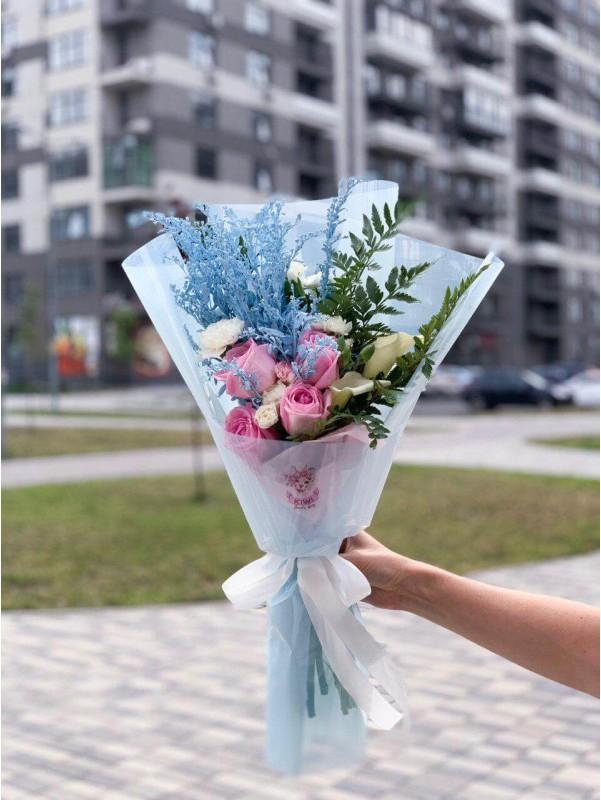 Blue mood | Купить комбинированные букеты в Киеве от Kiwi Flower Shop