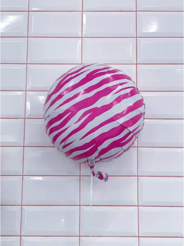 Воздушный шар 'Розовая зебра' от Kiwi Flower Shop