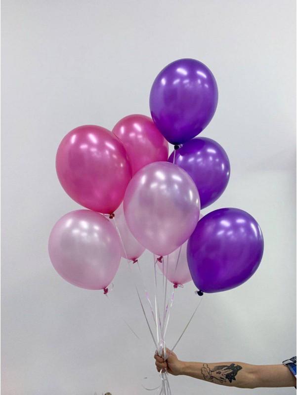 Охапка ярких шаров | Купить воздушные шары в Киеве | Воздушные шарики | Надувные шары от Kiwi Flower Shop