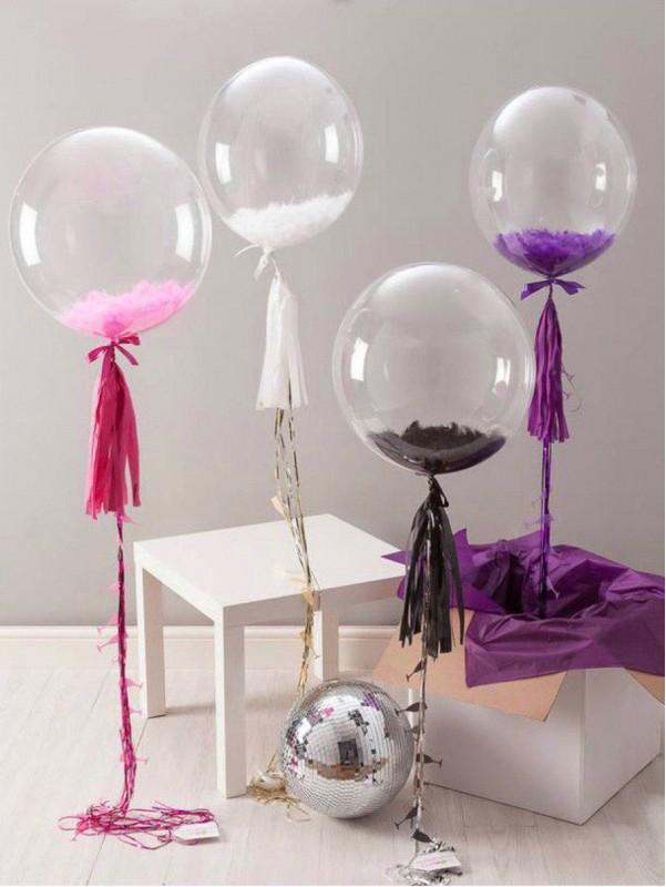 Воздушный шар с перьями | Купить воздушные шары в Киеве | Воздушные шарики | Надувные шары от Kiwi Flower Shop