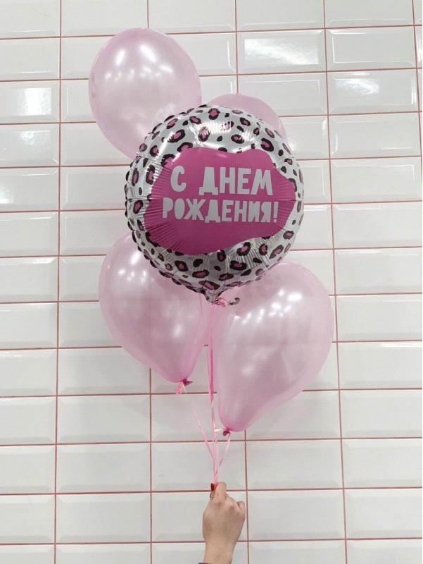 Нежное сочетание шариков в розовом цвете 'Набор шариков Розовая мечта' от Kiwi Flower Shop